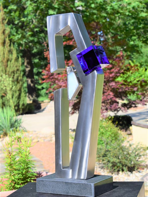 Stainless Steel & Glass Sculpture