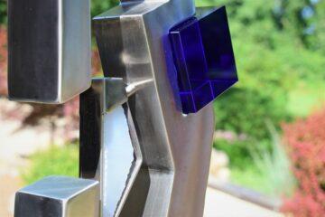Stainless Steel & Glass Sculpture