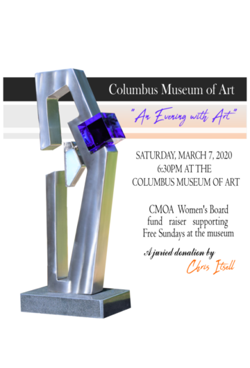 Columbus Museum of Art Sculpture Donation to the Women's Board. Donation by Chris Itsell