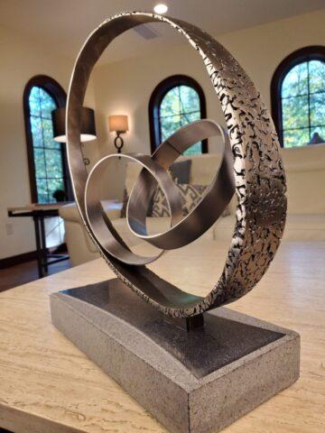 Steel and Granite Sculpture