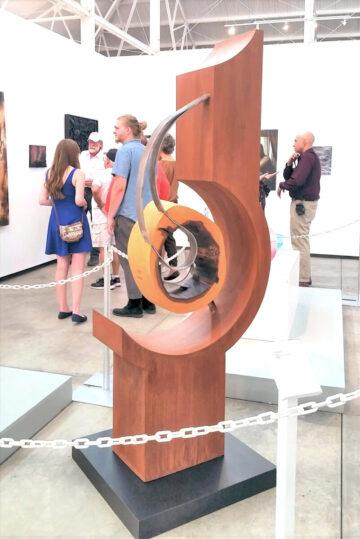 Metal and Wood Sculpture